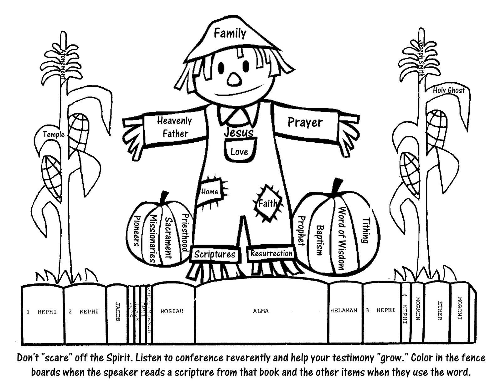General Conference Coloring Page for kids #LDS | church | Pinterest ...