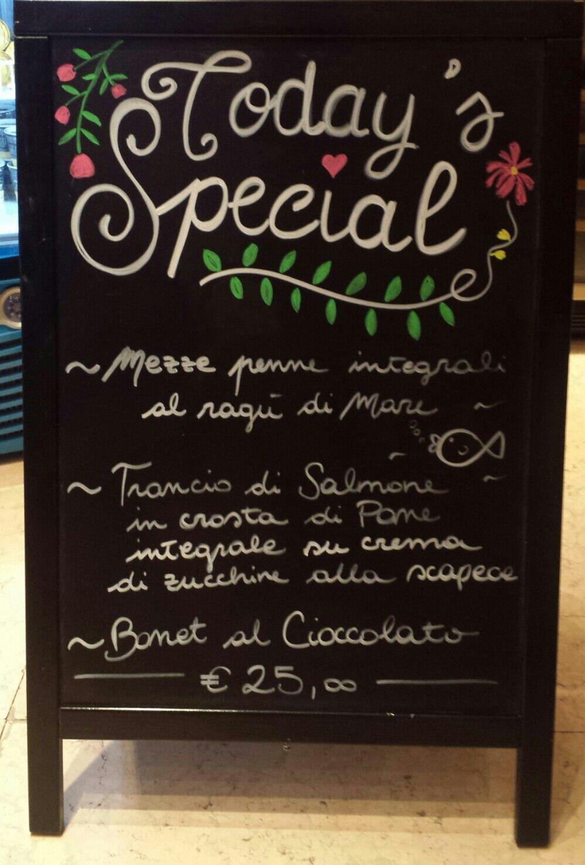 Blackboard Frame Menu Today's Special Calligraphy Chalk
