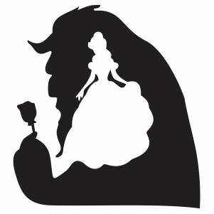 Beauty and the Beast Minimalist Disney svg cut file -   23 beauty And The Beast svg ideas