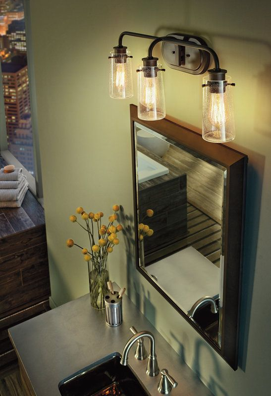 Kichler 45459 Beach Themed Bathroom Rustic Bathroom Lighting