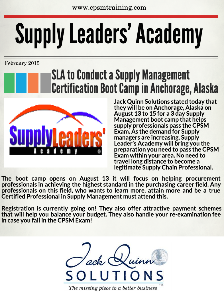 Cpsm Certification Training Is Going Anchorage Alaska This August