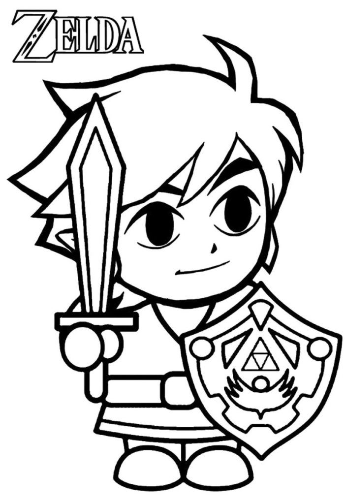 Free Printable Zelda Coloring Pages For Kids Coloring Pages Coloring Pages For Kids Free Printable Coloring Pages