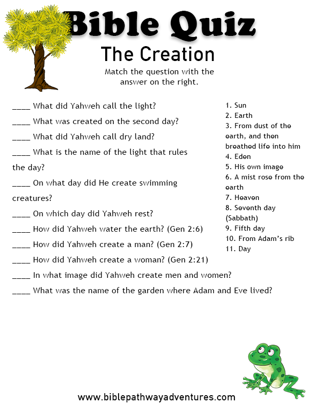 Questions about Creation - Bible Questions Answered