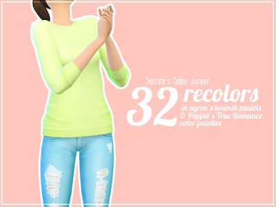 513709b6159e My Sims 4 Blog  Sentate s Celine Jumper Recolors by SillyDaydream ...