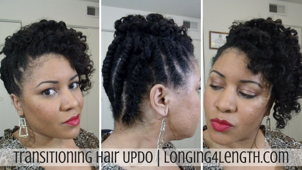 Transitioning Hairstyles New Transitioning Hairstyle Tutorial For Medium Hair  Transitioning