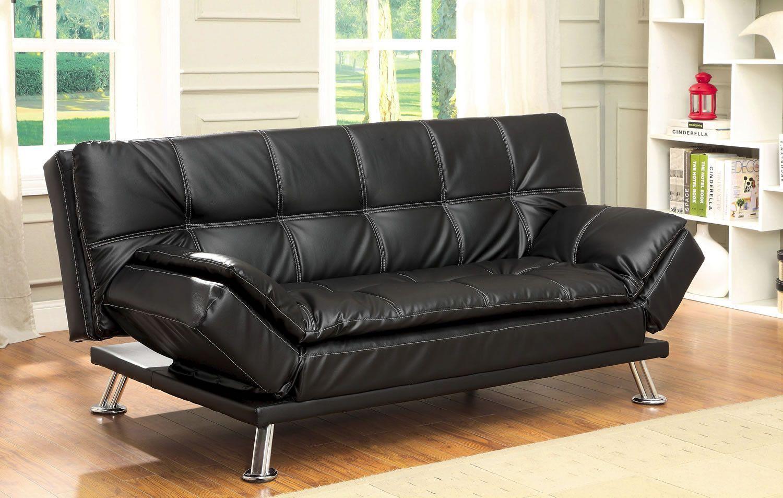 - Kador Tufted Leatherette Futon Modern Futon, Furniture, Futon Sofa