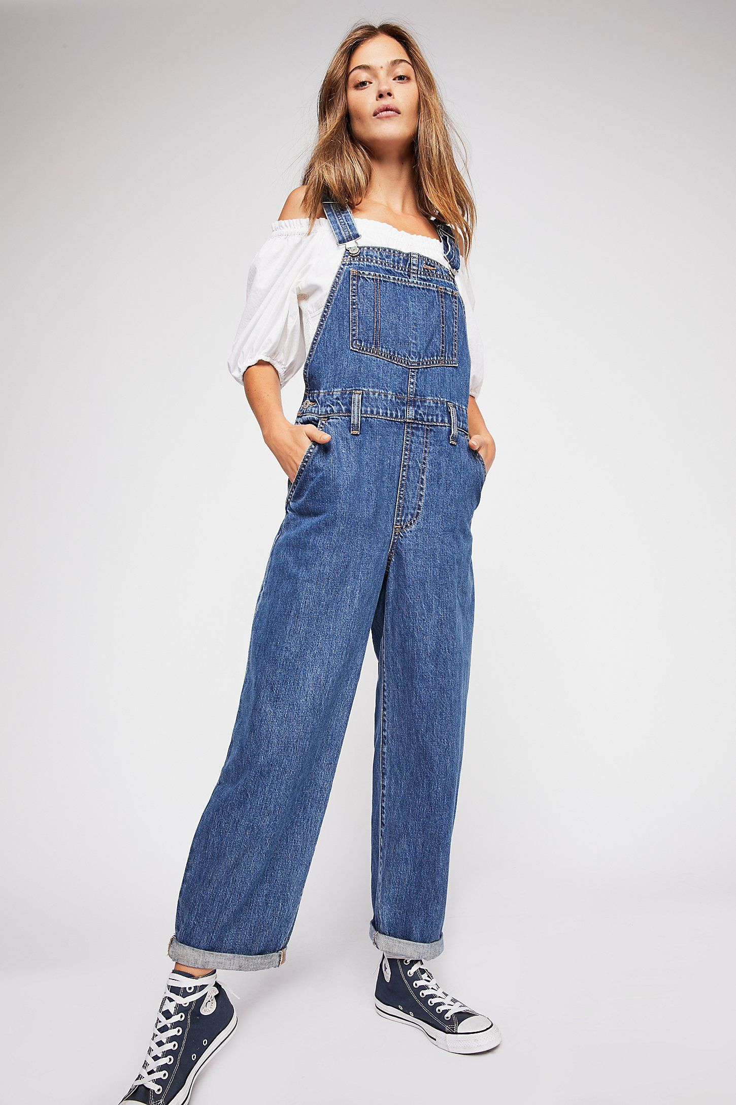 0eb2064abb88 Levi s Baggy Denim Overalls in 2019