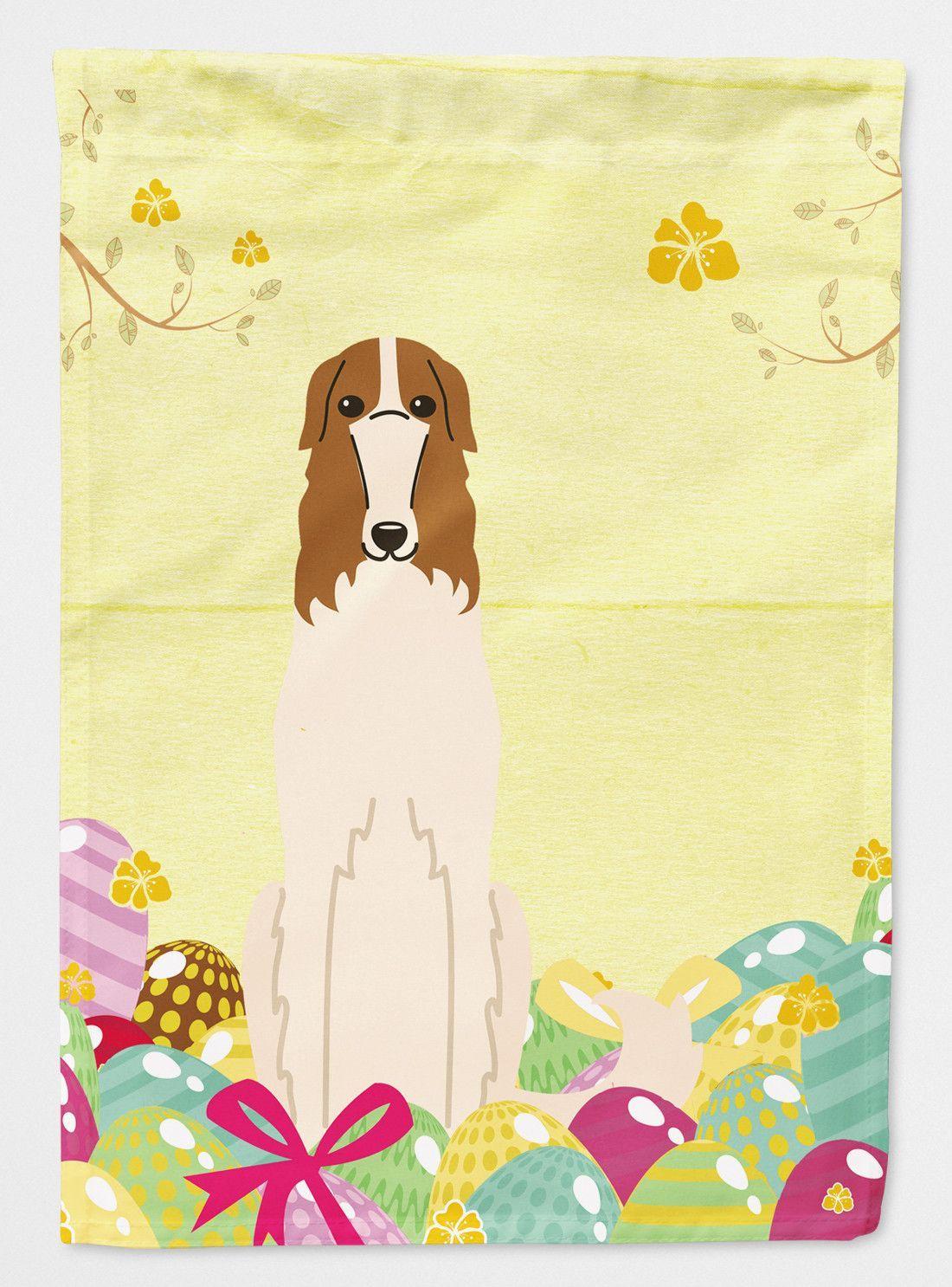 Easter Eggs Borzoi Flag Garden Size BB6023GF