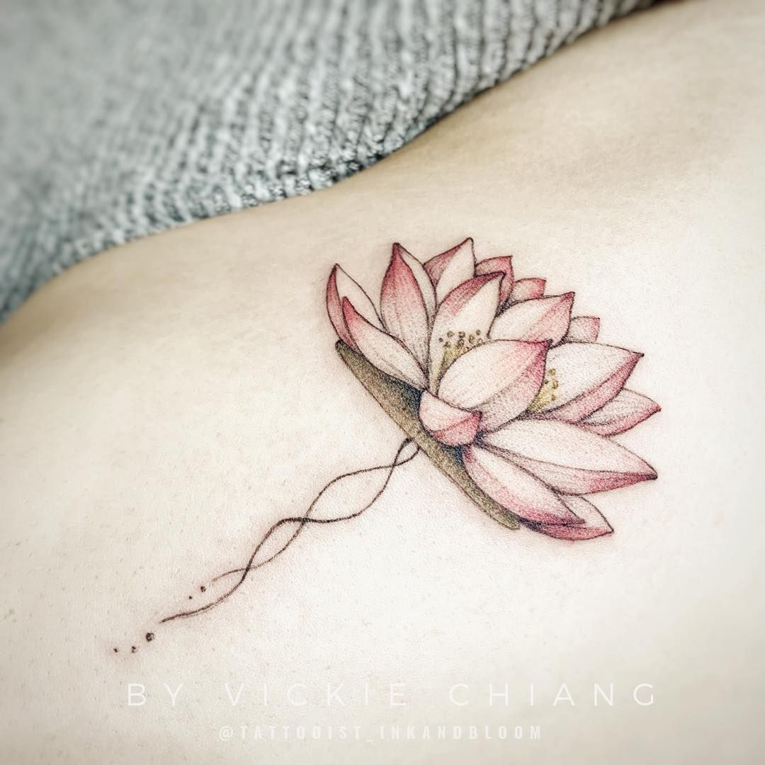 Vickie Chiang On Instagram A Elegant And Delicate Lotus For Diana Lotustattoo Lotus Lotusflower Lotus Lotus Tattoo Faith Tattoo On Wrist Small Tattoos