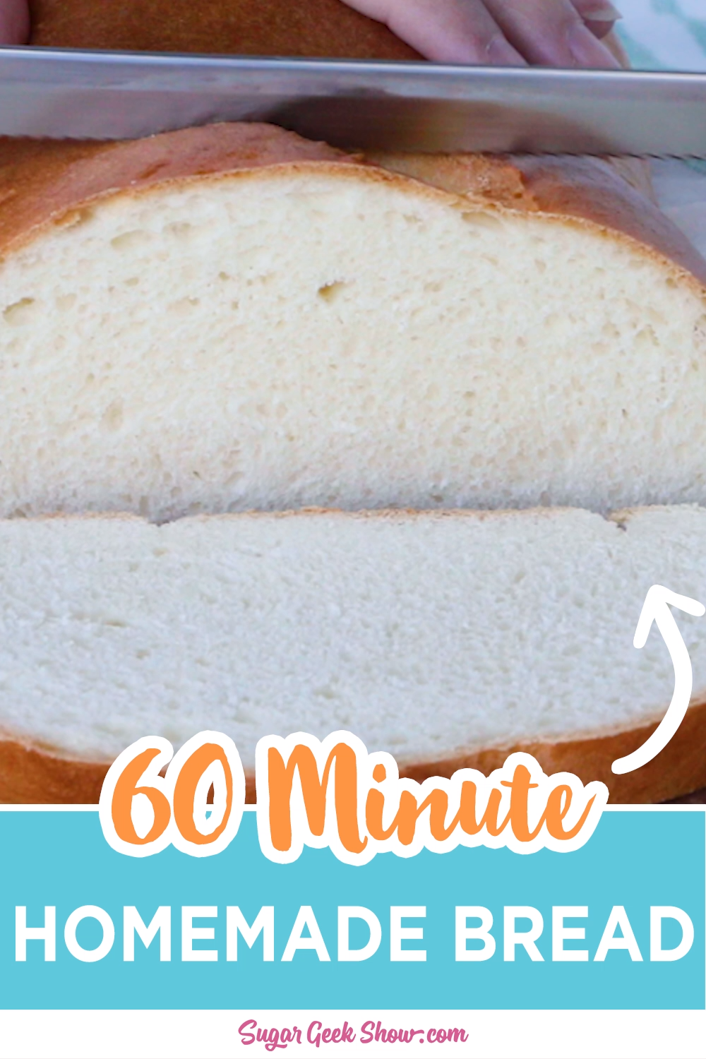 Need bread fast? This soft and fluffy yeast bread only takes 60 minutes to make and is pretty much the most amazing bread I've ever had. No special pans or bread machines. You won't believe how easy it is to make your own homemade bread.  #homemade #bread #yeast #baking