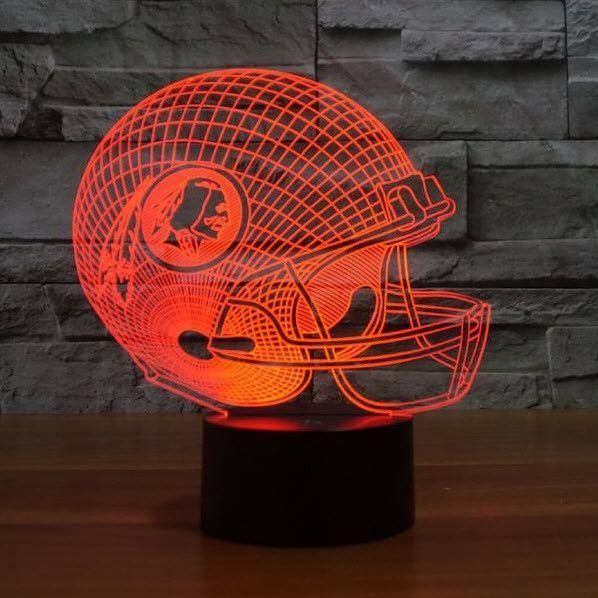 NFL WASHINGTON REDSKINS 3D LED LIGHT LAMP