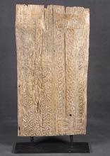Panel de Toraja Original con Peana / Antique Wood Panel with Carved Art @ Batavia