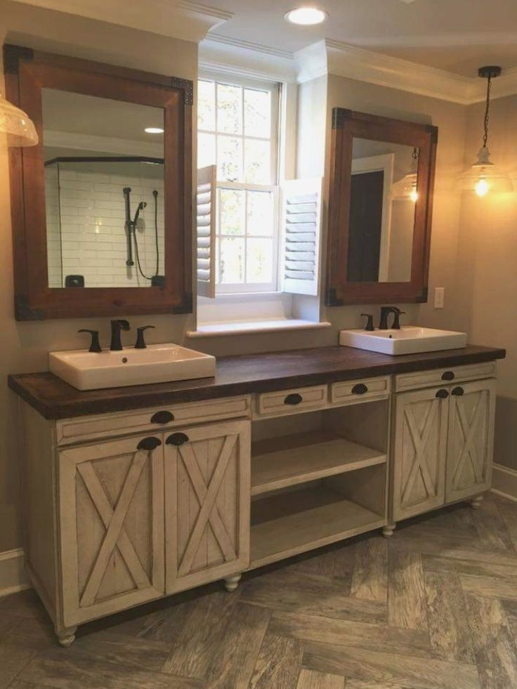 Pin By Betty Brooks On Bathroom Colors Pinterest Rustic Chic Bathrooms Country Vanities And