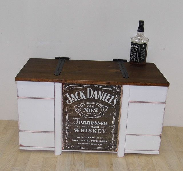 hausbar truhe jack daniels shabby chic von adamant. Black Bedroom Furniture Sets. Home Design Ideas