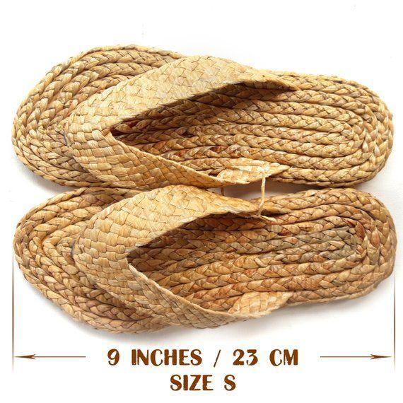 4c60fc7086a98 Braided straw sandals. Woman's wicker slippers Thai handmade ...