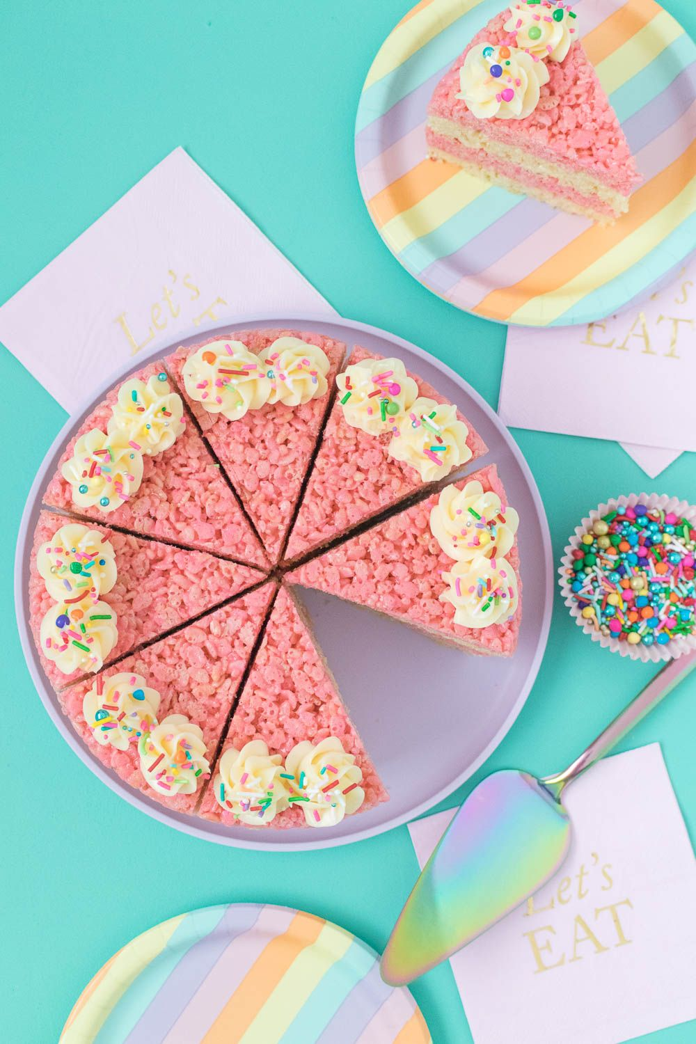 Swell Cake Slice Rice Krispies Treats Recipe With Images Rice Funny Birthday Cards Online Sheoxdamsfinfo