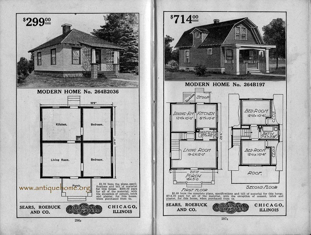 1917 sears modern homes vintage house plans modern and bungalow