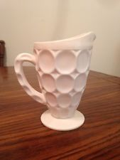 1950 Shell Pink Milk Glass Pitcher Replacement 17.88