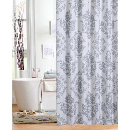 Mainstays Classic Noir Shower Curtain | Household Essentials ...