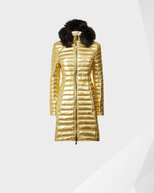 89f579df5bc66 HUNTER Women's Original Refined Fitted Down Coat - GOLD SATTELITE. #hunter  #cloth #