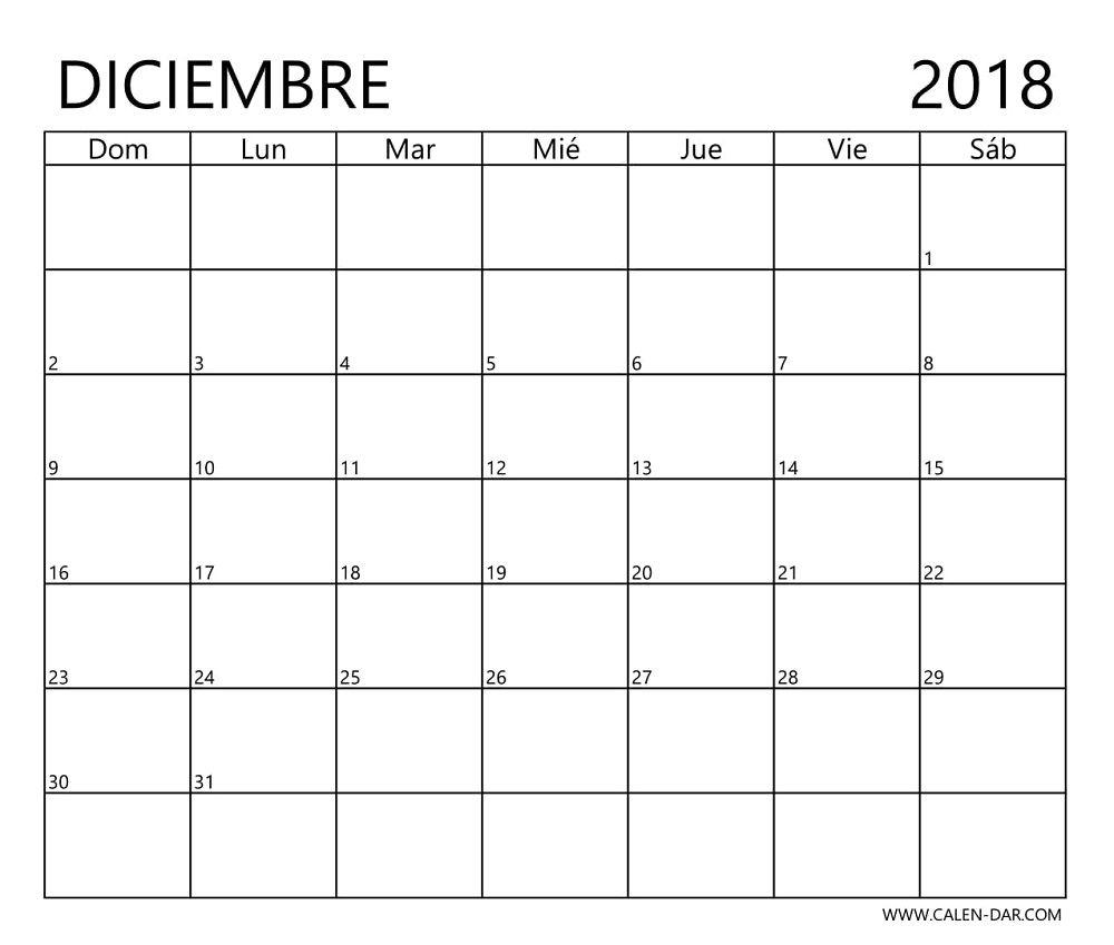 Calendario Diciembre 2018 Para Imprimir.Calendario Diciembre 2018 Para Imprimir Como Archivo De