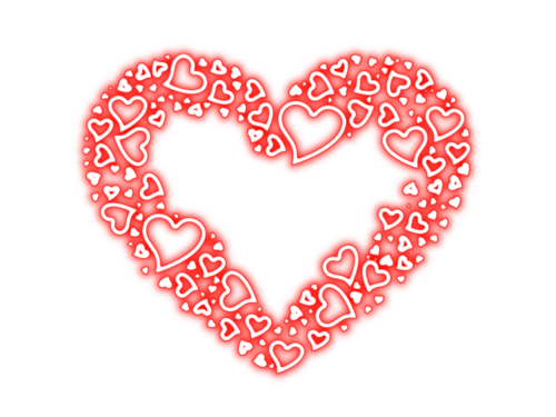Heart Corazone Decoraciones San Valentin Png 13 Png 500 375 Colorful Heart Heart Background Mom In Heaven