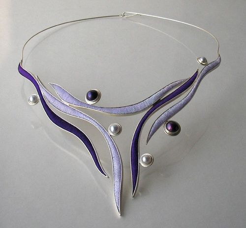Pin By Mina Siouti On Necklece Art Jewelry Necklace Metal Art
