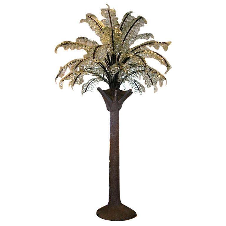 10ft Tall Glass Fronds Tree Floor Lamp Palm Trees Palm Tree Lights