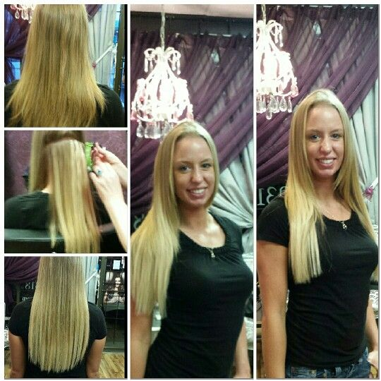 Dayna's new micro Tape in extensions from Tammy's Hair Design