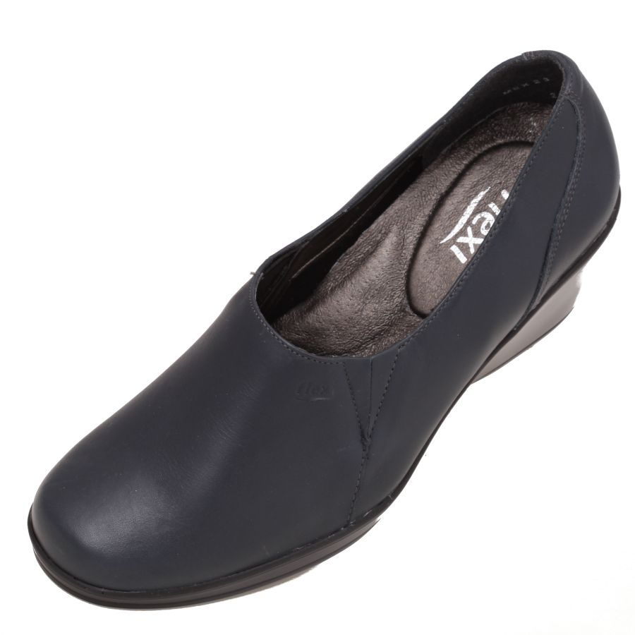 Zapato #Flexi de Base liso sin costuras en piel #Color #Azul