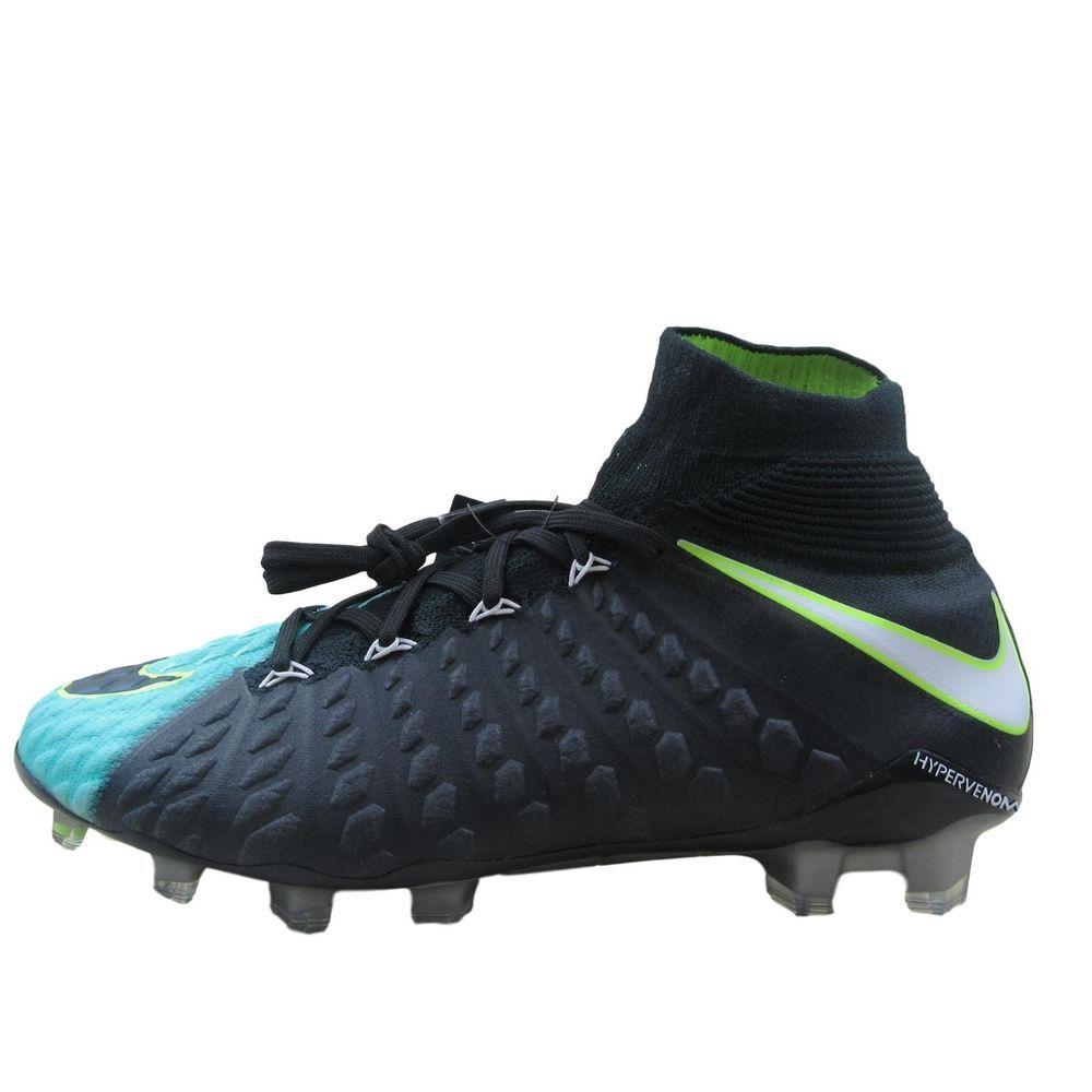 8ef6d9f81 Nike Hypervenom Phantom 3 DF FG Womens Size 8.5 Soccer Cleats Aqua 881545  400 #Nike