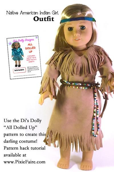 """Doll Clothes 18/"""" Dress Native American Dream Catcher Fits American Girl Doll"""