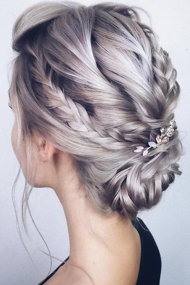 42 Boho Wedding Hairstyles Boho Wedding Hairstyles Low Updo With Braids On Silver Hair With Hair Prom Hairstyles For Long Hair Boho Wedding Hair Hair Styles