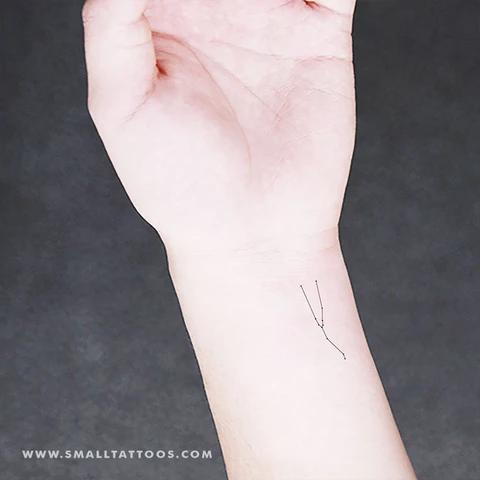 Photo of Small Taurus Constellation Temporary Tattoo (Set of 2)