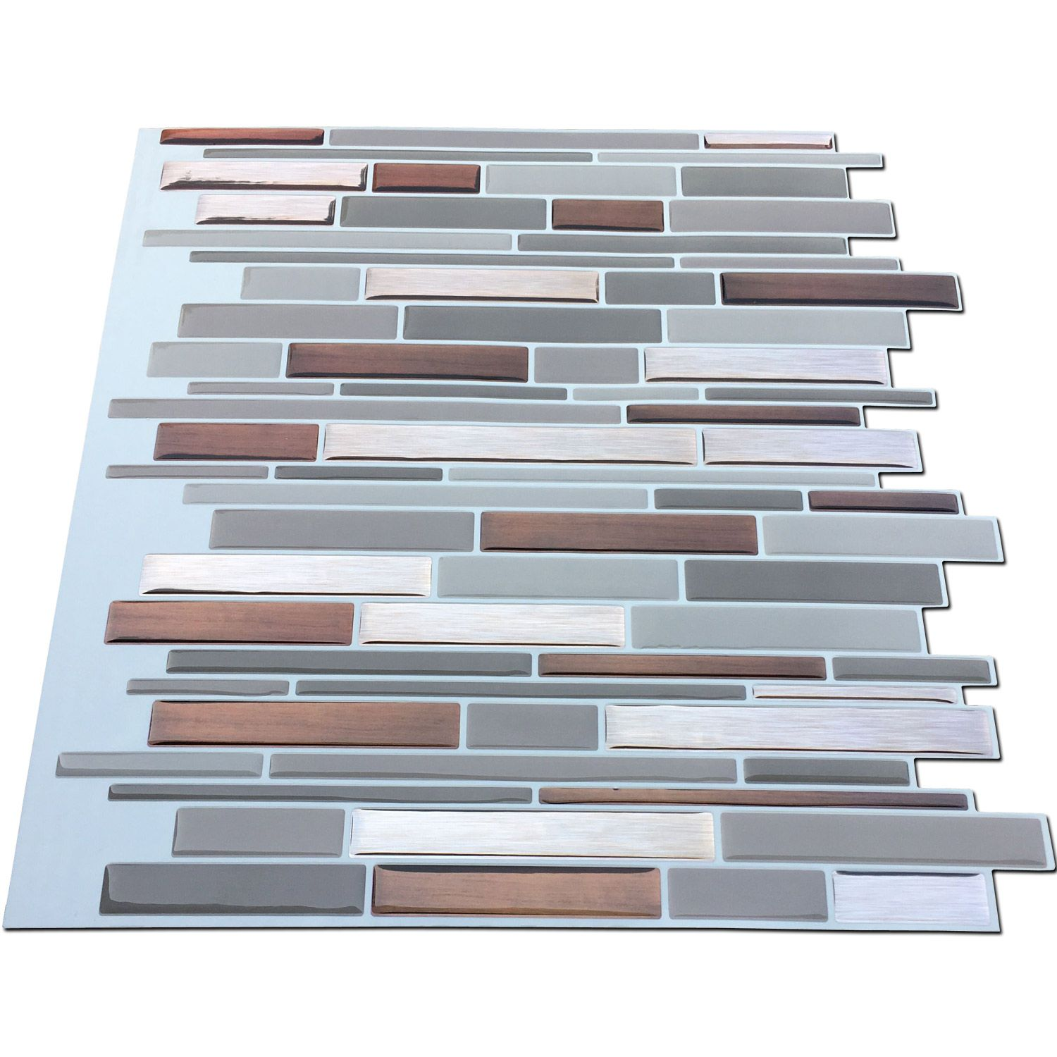 A17019 - Peel and Stick Mosaic Smart Tiles, 12 inch x 12inch Set of ...