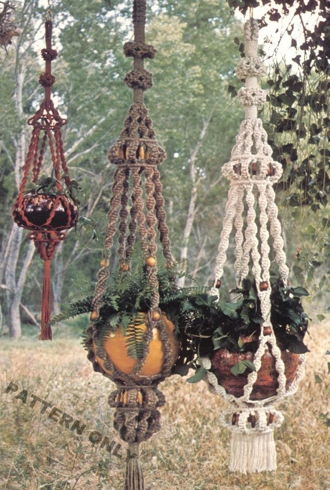 photograph relating to Free Printable Macrame Plant Hanger Patterns identify Create Those people Classic MACRAME PLANT HANGERS - Practice Basically