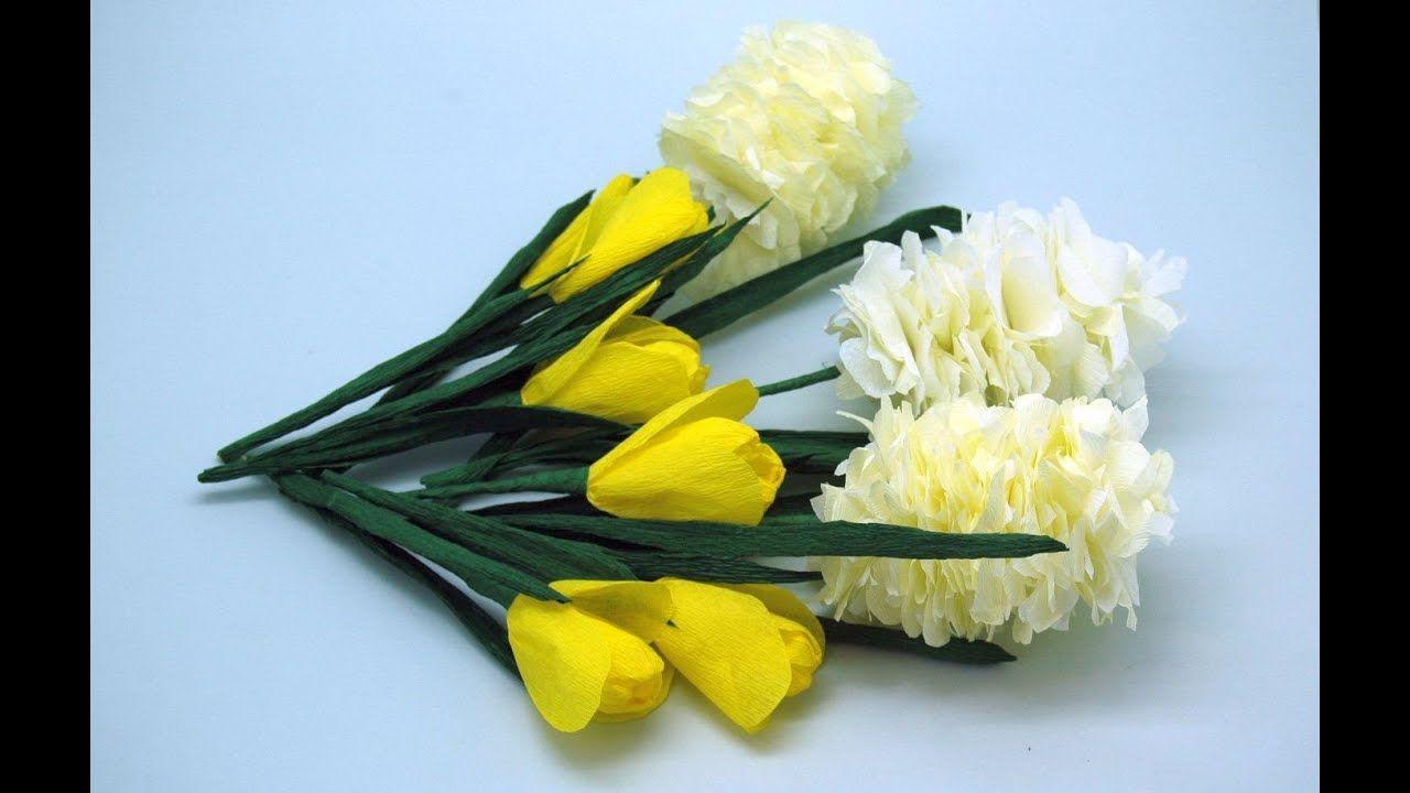 Krokusy Z Bibuly Jak Zrobic Diy Crocuses Handmade Flowers Paper Paper Flowers How To Make Paper Flowers