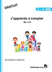 Cahier à imprimer, apprendre à compter de 1 à 9 | Cahier de maternelle, Jeux gratuits pour ...
