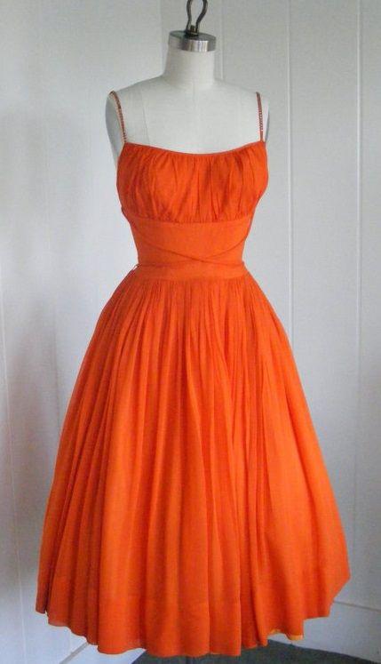 Tangerine cocktail dresses