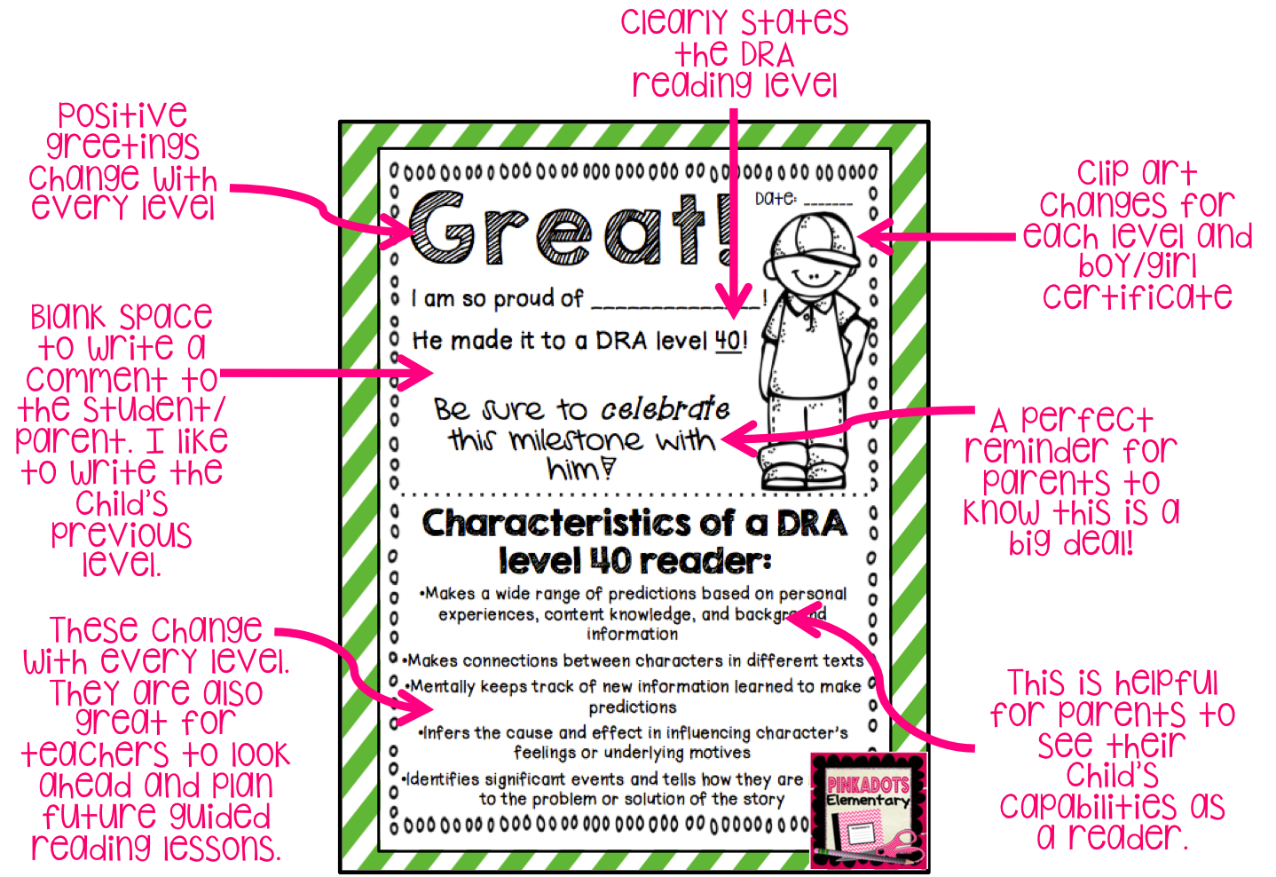 Fun And Meaningful Dra Reading Certificates For Parent