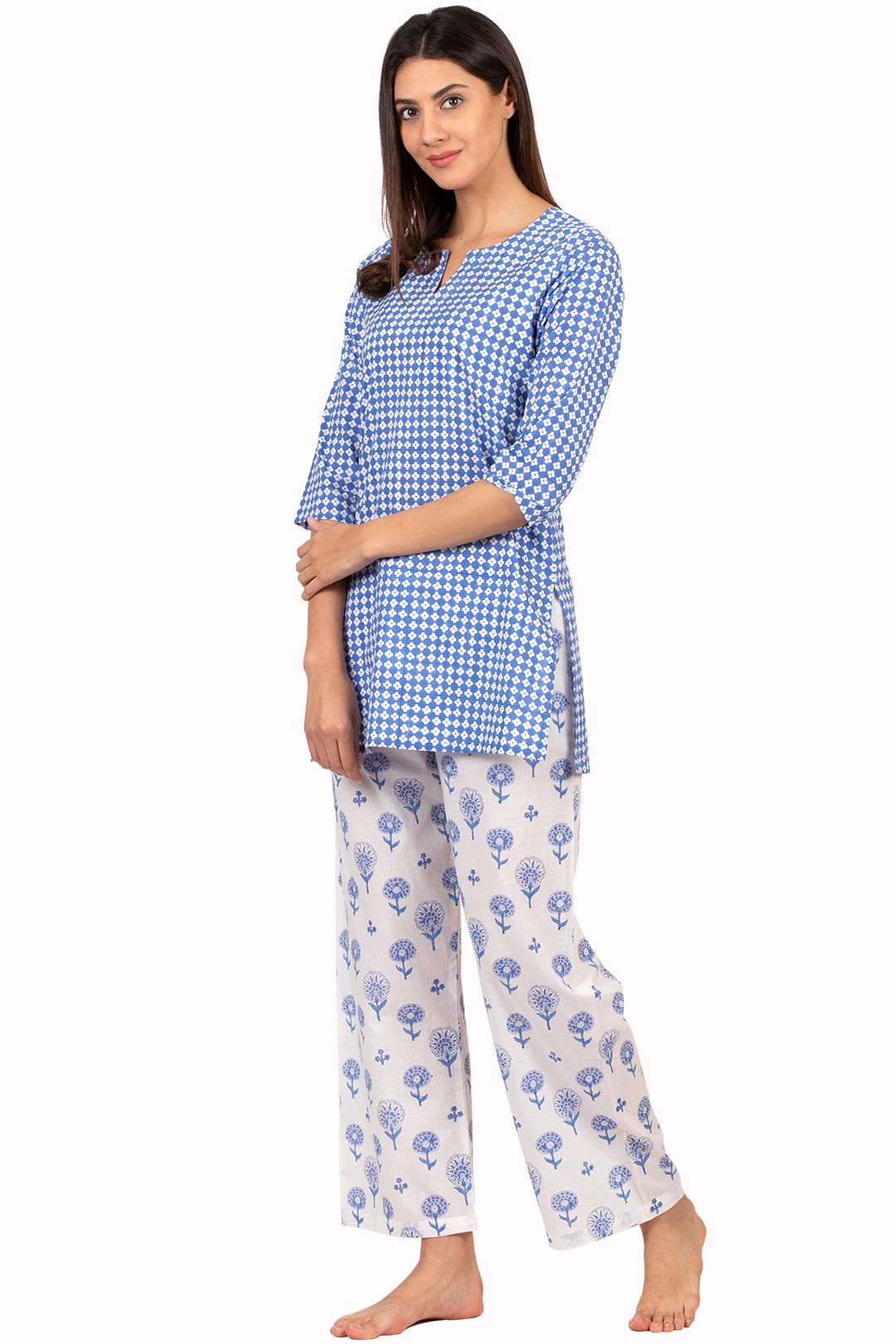Gulbagh Sehr Nightsuit  Night suit for women, Night dress for