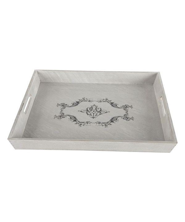 Look at this Vintage Square Wood Tray on #zulily today!