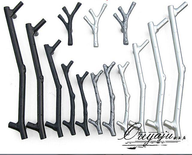 tree branch rural kitchen cabinet knob wardrobe handles furniture hardware metal tree branch door handle twig