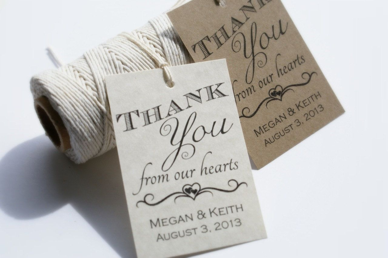 Thank You Tag, Wedding Thank You Tag Template, Gift Tag, Wedding ...