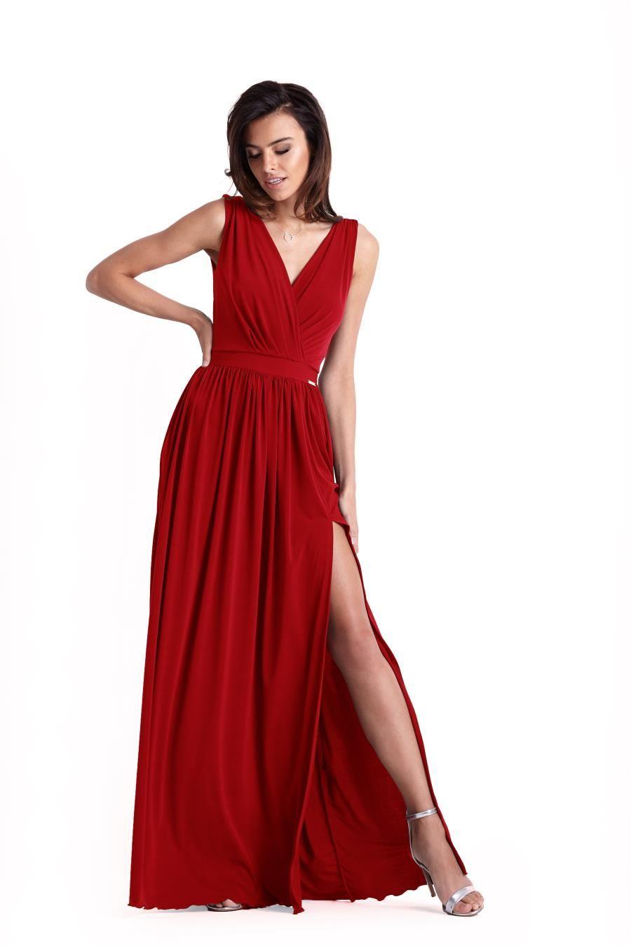 Wieczorowa Dluga Sukienka Czerwona 238 Formal Dresses Dresses Red Formal Dress