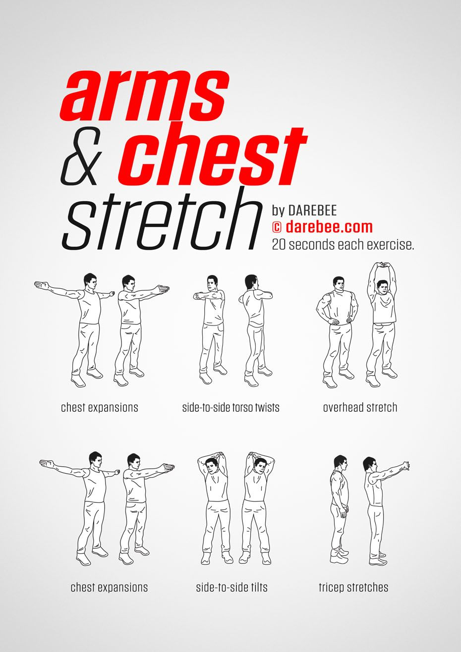 Arms & Chest Workout Easy yoga workouts, Lower back