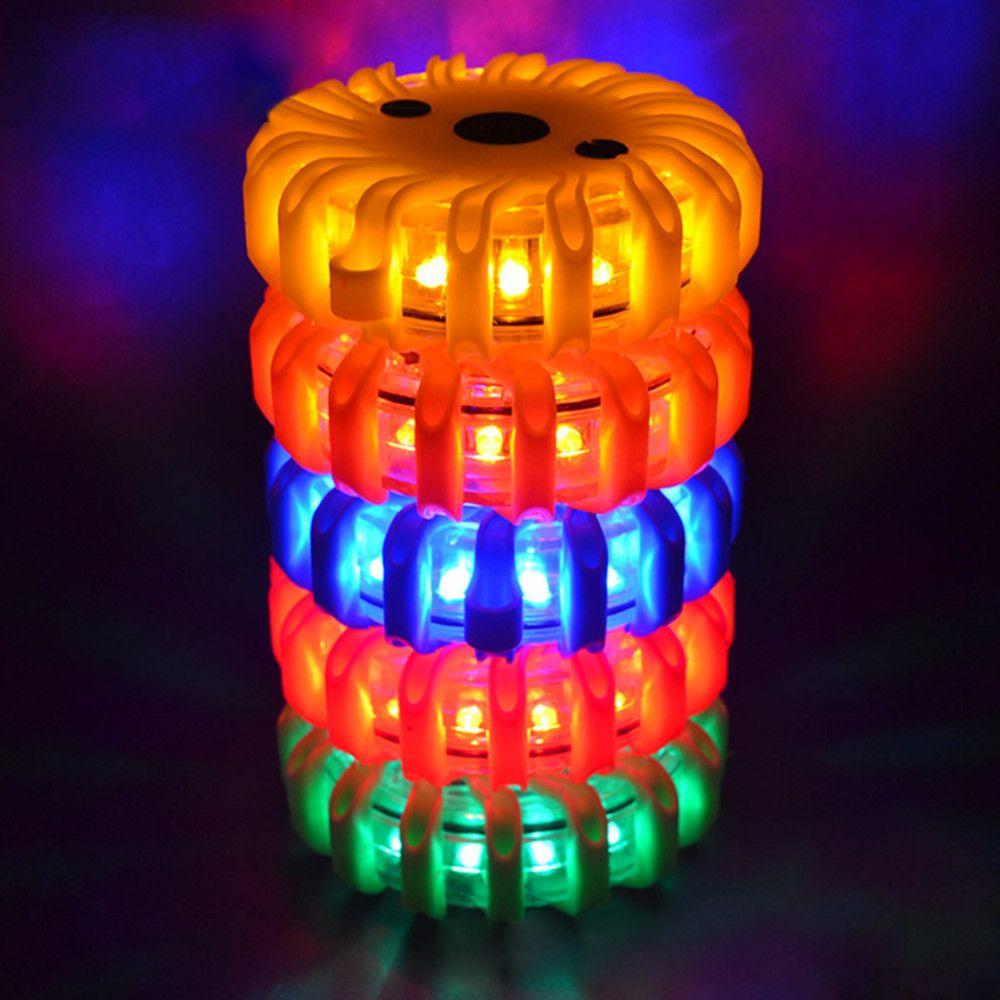 Car LED Rechargeable Road Flares Flashing Warning Roadside Emergency Safety Lamp