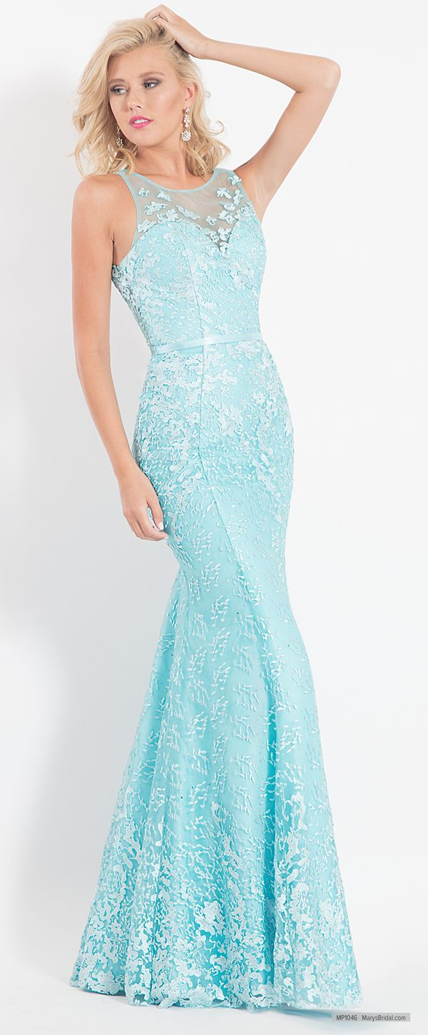 MP1046 Mermaid prom dress features embroidery, bateau neck line ...