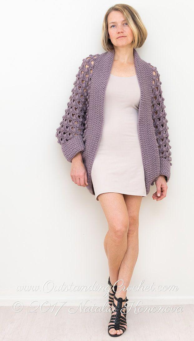 Ash Rose Shrug Crochet Pattern | Sacos Cortos y Largos, cuadrado y ...