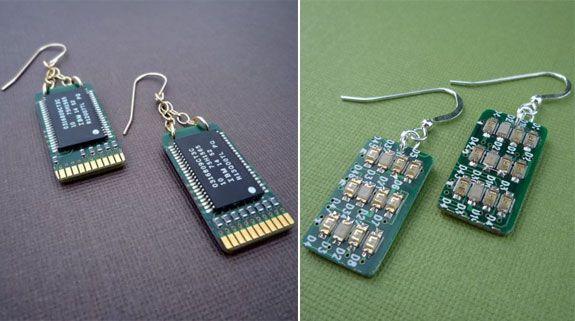Circuit Board Photo Bijoux Brooch Pins Jewelry Blue Power Circuit
